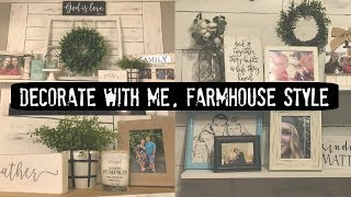 Decorate With Me // Farmhouse Style