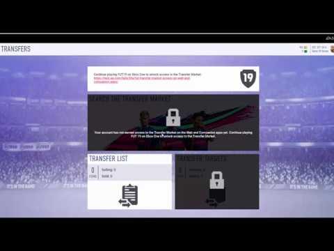 TUTORIAL ON HOW TO UNLOCK THE TRANSFER MARKET ON THE FIFA 19 WEBAPP!!! (EASY FIX)