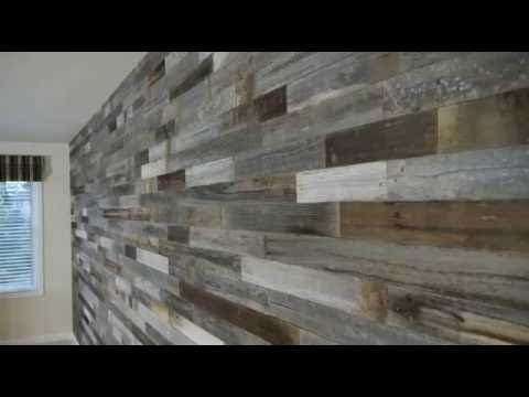 Great Reclaimed Weathered Wood Interior Wall   YouTube