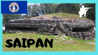A WW2 Japanese air-raid shelter, Saipan  (Northern Mariana Islands, Pacific Ocean)
