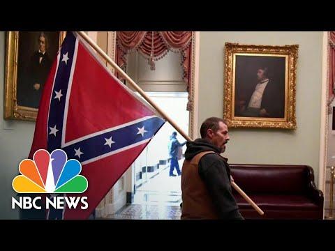 Pro-Trump Militia, Conspiracy Theorists Rioted In U.S. Capitol, Not Antifa | NBC News NOW