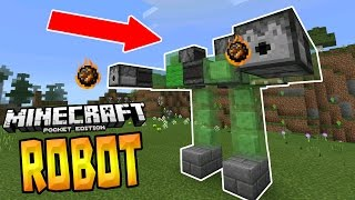 WALKING ROBOT in MCPE!!! - 1.0+ Redstone Creation - Minecraft PE (Pocket Edition)
