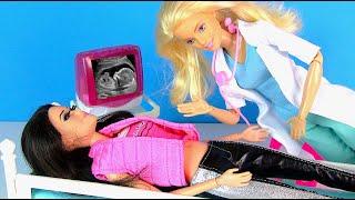 БЕРЕМЕННЫE БАРБИ ИДУТ НА УЗИ Мультики Куклы Барби Игрушки Для Девочек Ikuklatv