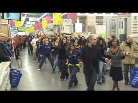flashmob castorama cormeilles flash mob 06 nov 2010 youtube. Black Bedroom Furniture Sets. Home Design Ideas