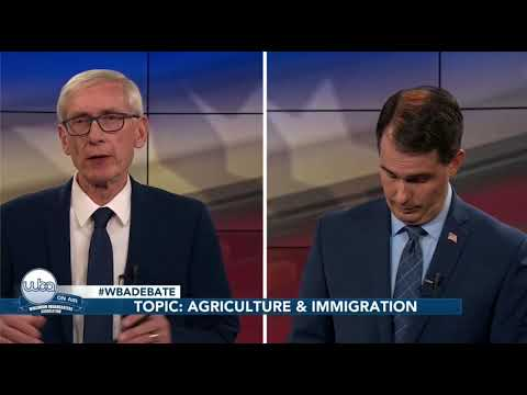 Scott Walker and Tony Evers on Immigration and Agriculture, Wisconsin Gubernatorial Debate, 10/19/18