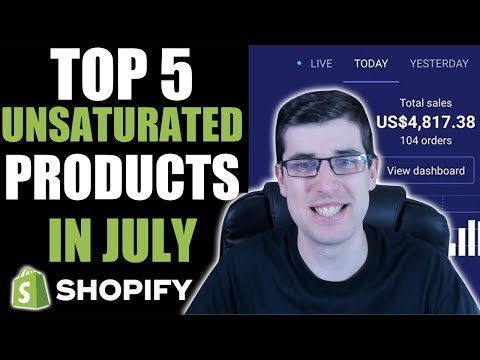 TOP 5 PRODUCTS TO DROPSHIP IN JULY (Shopify Dropshipping Winning Products 2019) thumbnail