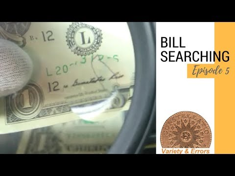POSSIBLE ERROR FIND - $1 Bill Searching For Rare Bank Notes (Episode 5)