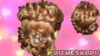 Прическа на выпускной вечер своими руками, для девочек  Плетение французской косы или «косы наоборот