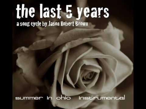Summer In Ohio The Last Five Years Instrumental KARAOKE track