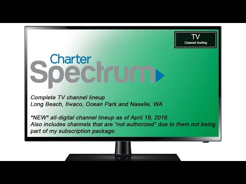 TV Channel Lineup: Charter Spectrum, Long Beach, WA (New All-Digital Lineup!)