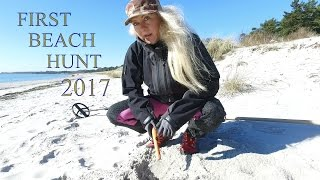 metal detecting first beach finds
