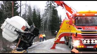 Scania Boniface Rotator Truck- Heavy Recovery Tank Trailer - Sweden 4K