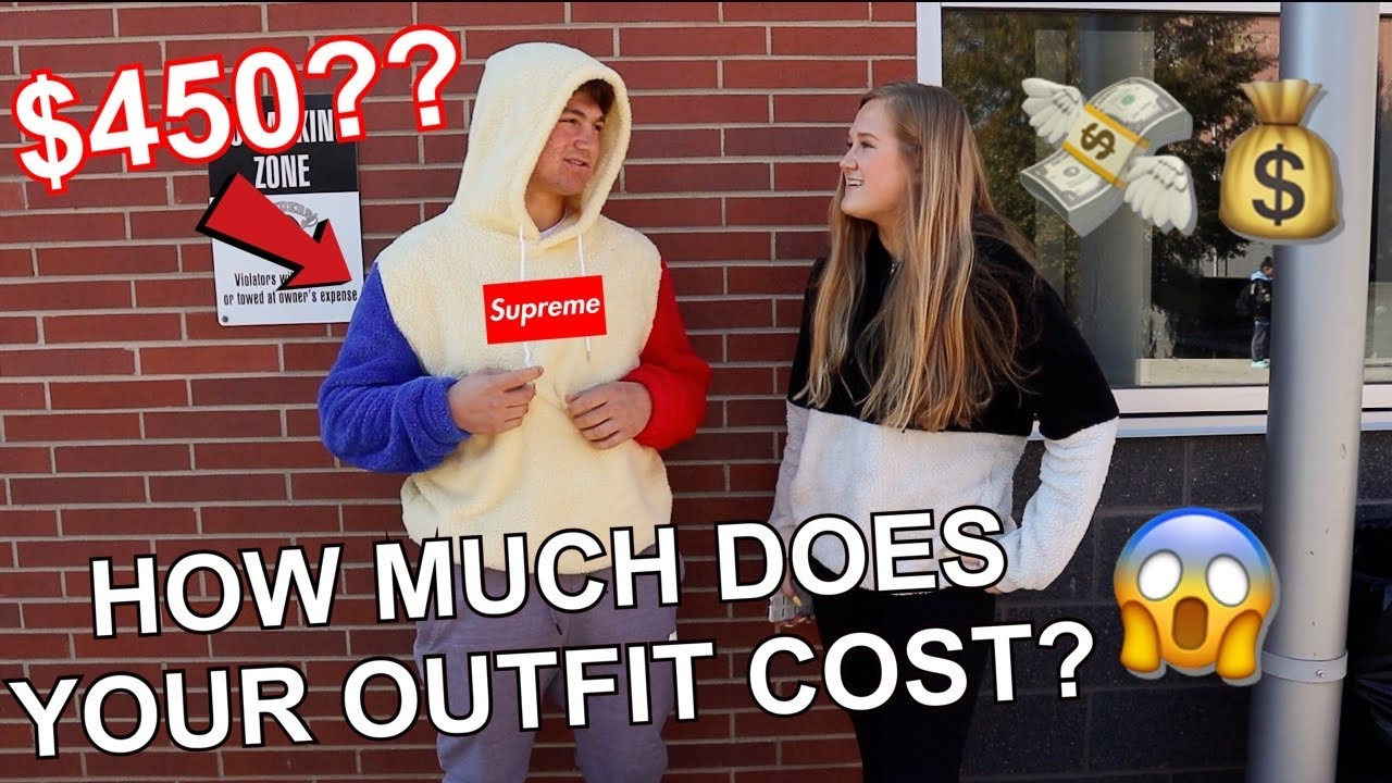 [VIDEO] - asking HIGHSCHOOLERS how much MONEY THEIR OUTFITS COST $$$ 4