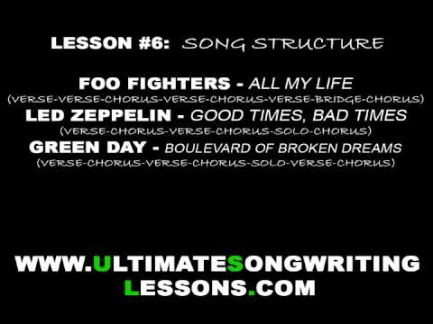 How to Write a Song #6 - Song Structure