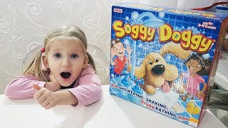 Alina and Daddy Soggy Doggy game CHALLENGE