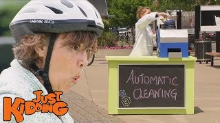 Automatic Cleaning Machine Prank