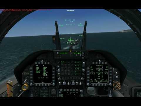 FSX Carrier Landing, Sludge Hornet w/new IFLOLS VC gauge, part 2