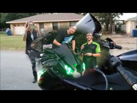"""Mom surprises Son, with a Kawasaki ZX1400 Monster Edition! """"FIRST BIKE!"""