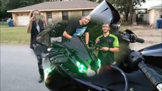 "Mom surprises Son, with a Kawasaki ZX1400 Monster Edition! ""FIRST BIKE!"