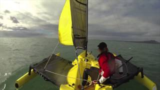 How to gybe on the Weta Trimaran
