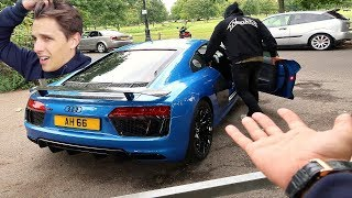 HE TOOK MY R8 AND BROKE IT!!