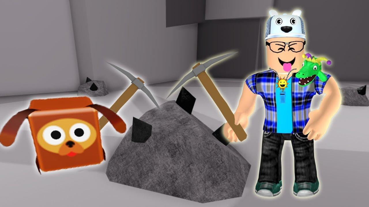 ROBLOX: OS MEUS PETS ME AJUDARAM A MINERAR PEDRAS PRECIOSAS! (Pet Mining Simulator) - Joga Velhote