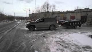 Гусеничая платформа ТСН 74 едет в  Сургут из Челябинска.