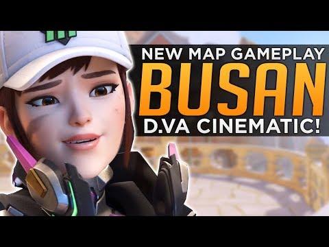 Overwatch: NEW Map & D.va Cinematic! - Busan Map Gameplay Tour!
