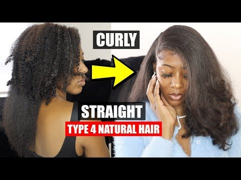 My CURLY TO STRAIGHT Type 4 Natural Hair Routine!!😍 // Wash, Blow Dry, Flat Iron, Trim, and Style!