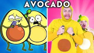AVOCADO COUPLE WITH ZERO BUDGET! (AVOCADO COUPLE FUNNY ANIMATED PARODY)   Hilarious Cartoon
