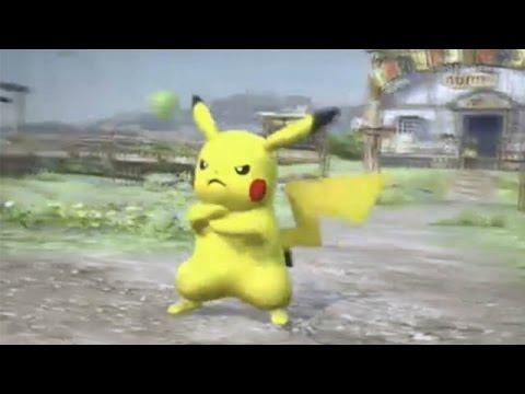 Watch Pickachu Kick Ass In Nintendo's Weird Pokemon/Tekken Mashup, 'Pokken Tournament'