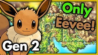 Can I Beat Pokemon Gold with ONLY EEVEE? 🔴 Pokemon Challenges ► NO ITEMS IN BATTLE