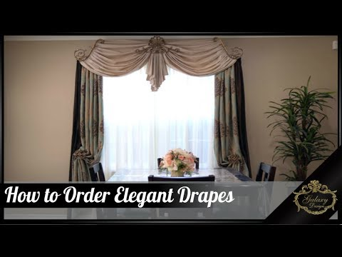 How to Order Elegant Drapes from Galaxy Design | Video #160