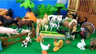 Learn Farm Animals Inside House - Baby Farm Toys and Mom Video - Fun Video for Children