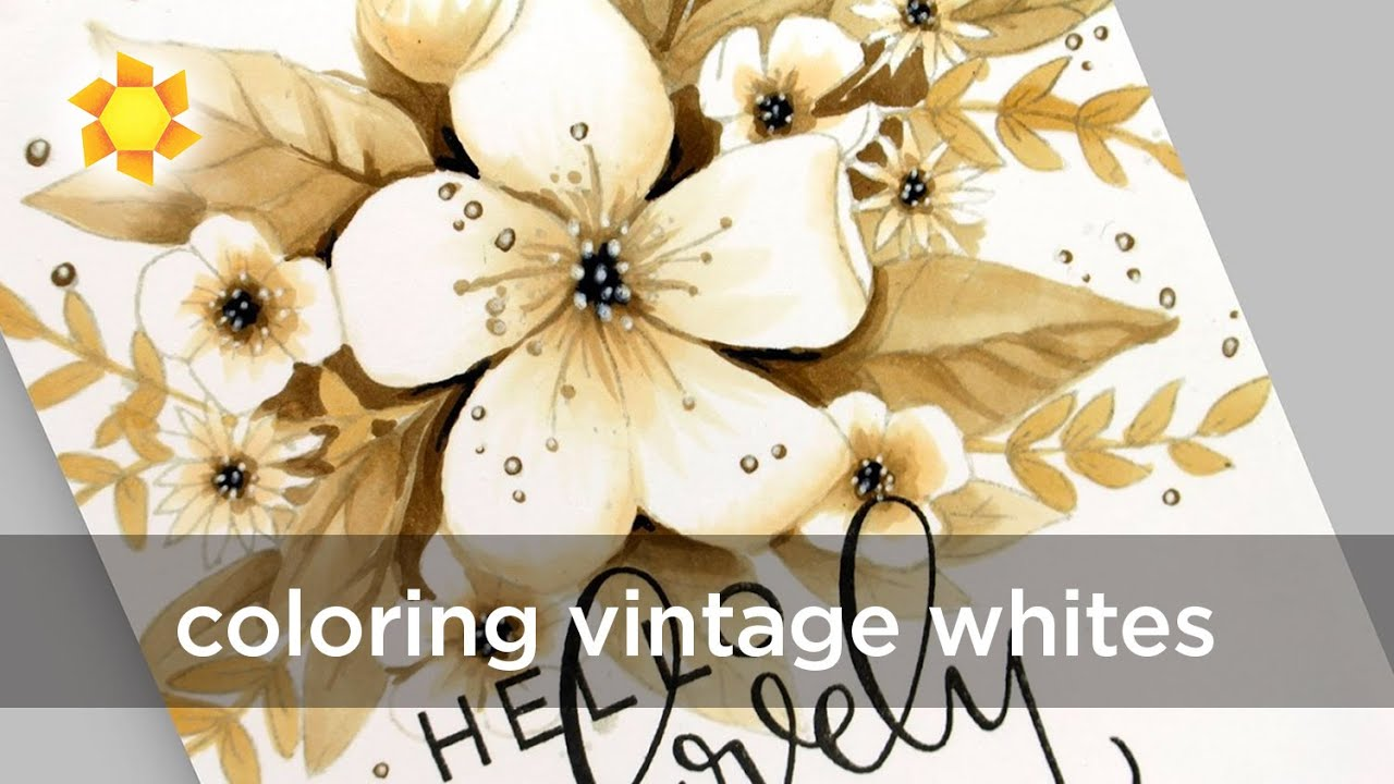 Neutral Flowers Coloring Winter Whites Youtube