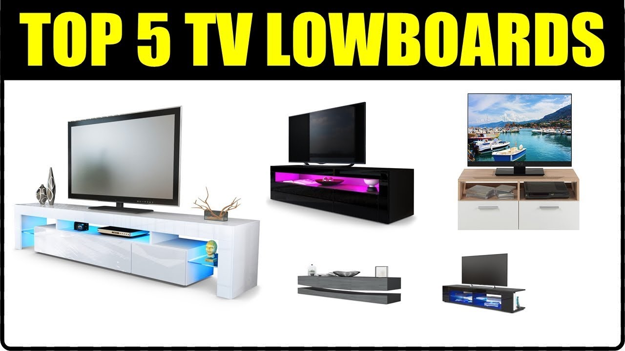top 5 tv lowboards tv board tv schrank f r wohnzimmer tv tisch ideen tv lowboard h ngend. Black Bedroom Furniture Sets. Home Design Ideas