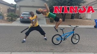 WHEN NINJA MEETS BMX BIKE