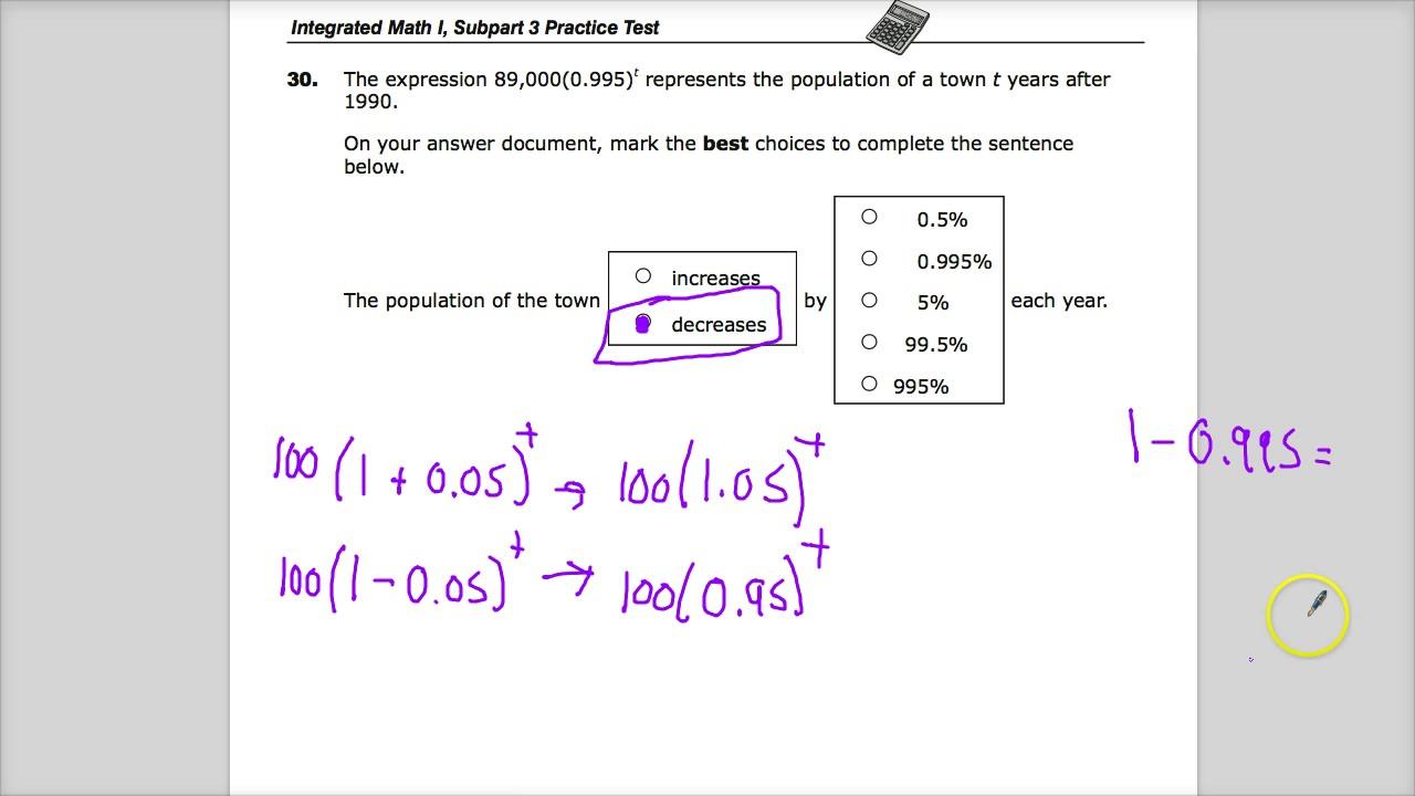 Question 31 - Integrated Math 1 - TNReady Practice Test