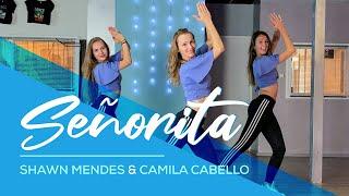 Gambar cover Shawn Mendes, Camila Cabello - Señorita - Easy Fitness Dance Video - Baile - Choreo