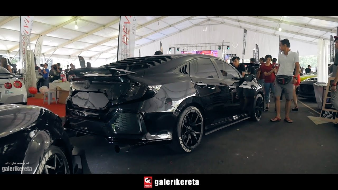ALL BLACK Civic FC Modified at Velocity Motor Show 2017 - YouTube
