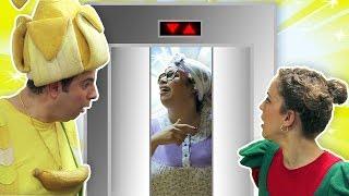فوزي موزي وتوتي – المصعد السحري – Magic elevator