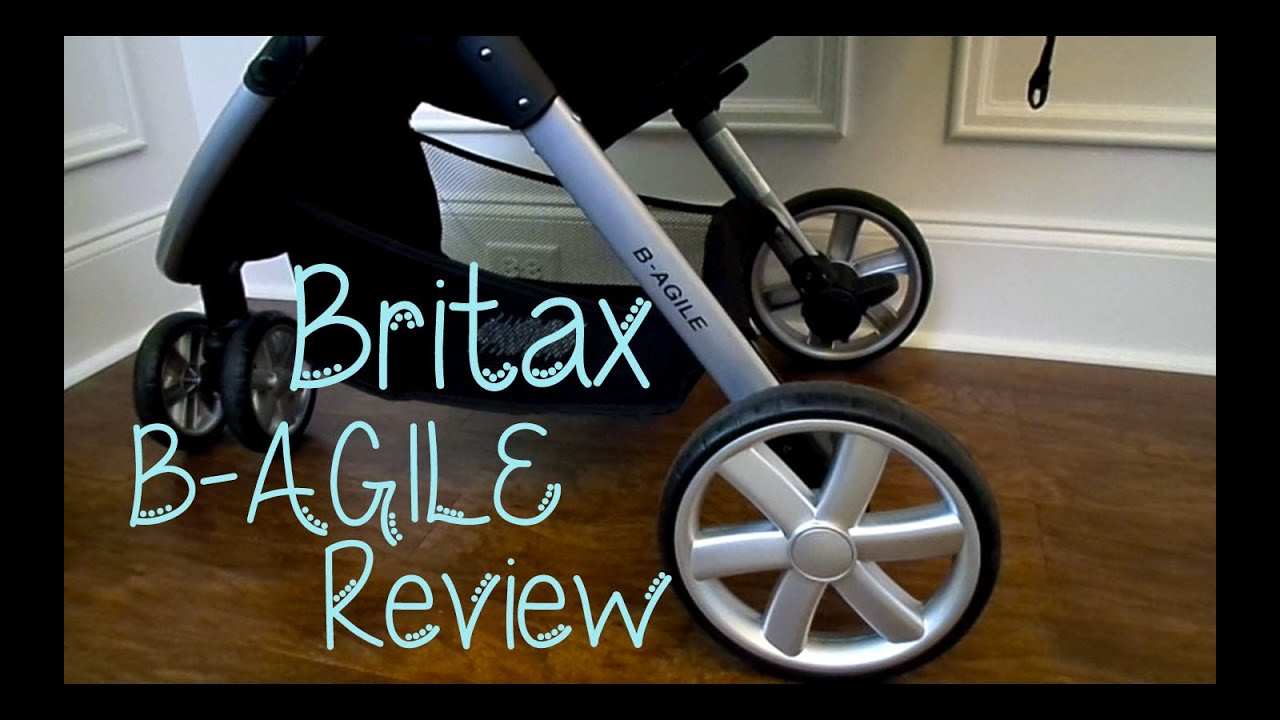 how to close britax b agile stroller