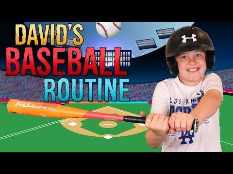 David's Baseball Night Routine