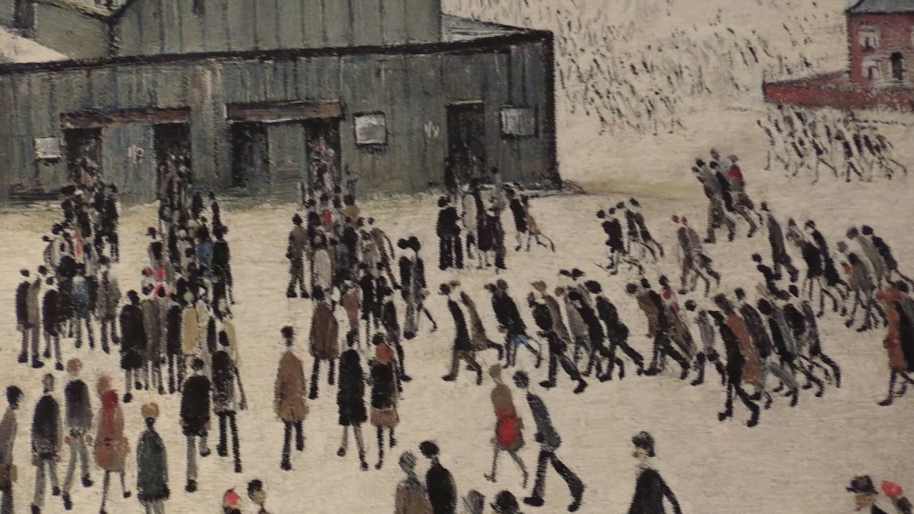 LOWRY L S Going to the Match 1972 Peter Harrington