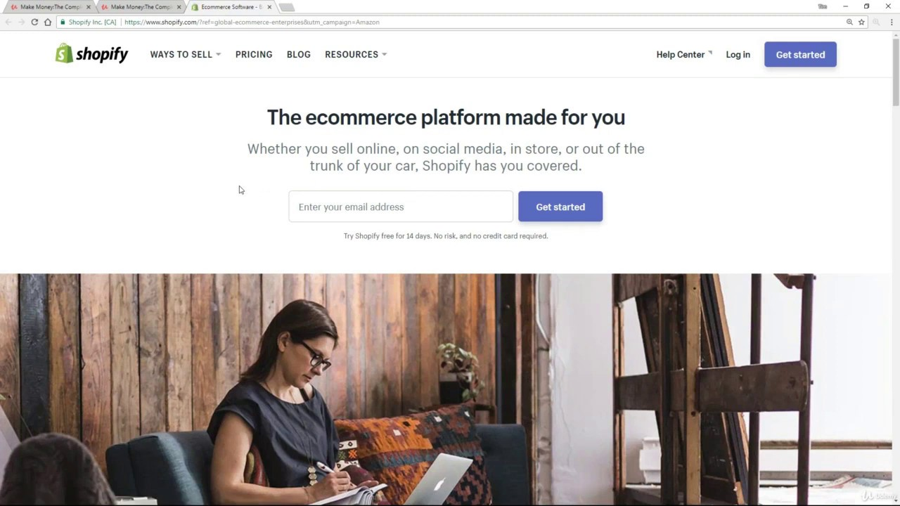 Setting up your FREE Shopify account | shopify dropshipping