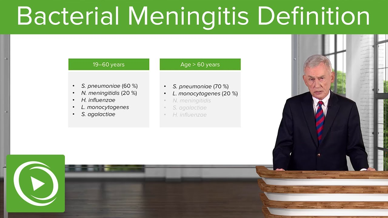 Bacterial Meningitis: Definition & Acute Meningitis– Infectious Diseases | Lecturio