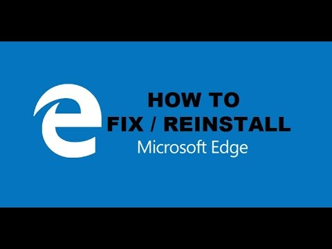 how to reinstall microsoft edge browser in windows 10 repair or reset microsoft edge