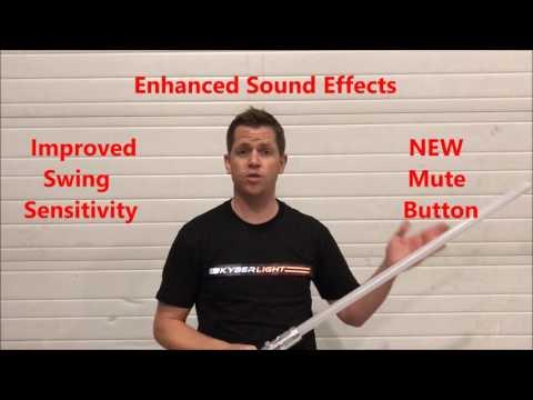Kyberlight Saber Demo  - New Sound Enhancements