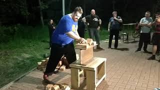 Силовое экстрим-шоу в ночном парке Авиаторов