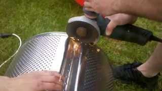 Feuerkorb aus Waschmaschienen Trommel (Part2)
